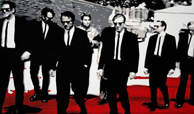 Pulp Painting - Reservoir Dogs by Luis Ludzska