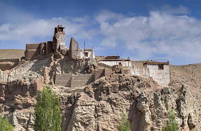 Ruins At Basgo Monastery Print by Rudra Narayan  Mitra