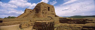 Pueblo Architecture Photograph - Ruins Of The Pecos Pueblo Mission by Panoramic Images