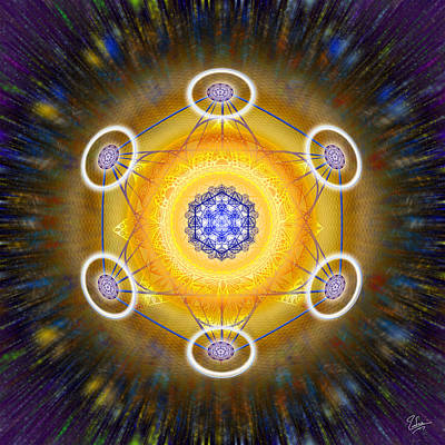 Merkaba Digital Art - Sacred Geometry 343 by Endre Balogh
