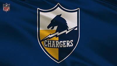 Sports Photograph - San Diego Chargers Uniform by Joe Hamilton