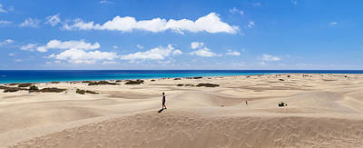 Sand Dunes In A Desert, Maspalomas Print by Panoramic Images
