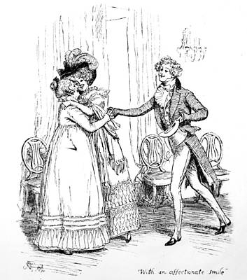 Novel Drawing - Scene From Pride And Prejudice By Jane Austen by Hugh Thomson