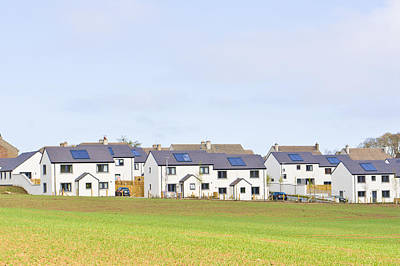 Suburbia Photograph - Scottish Houses by Tom Gowanlock