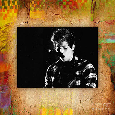 Musicians Mixed Media - 5 Seconds Of Summer  Luke Hemmings by Marvin Blaine
