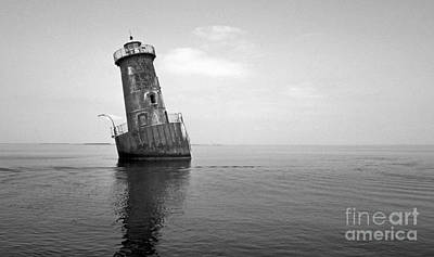 Sharps Island Lighthouse Print by Skip Willits
