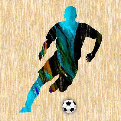 Soccer Mixed Media - Soccer Player by Marvin Blaine