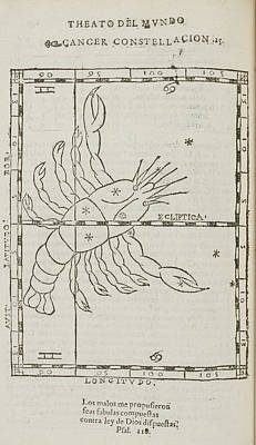 Constellations Photograph - Star Constellations And Heavenly Bodies by British Library