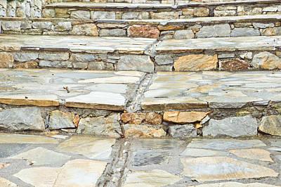 Drain Photograph - Stone Steps by Tom Gowanlock