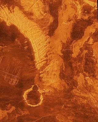 Surface Of Venus Print by Nasa/jpl