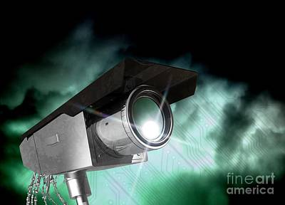 Civil Liberties Photograph - Surveillance, Conceptual Image by Victor Habbick Visions