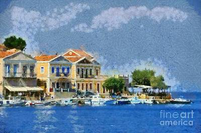 Symi Island Print by George Atsametakis