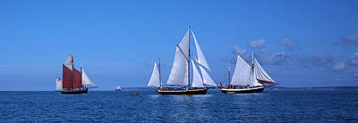 Tall Ships Race In The Ocean, Baie De Print by Panoramic Images