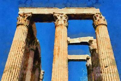 Temple Of Olympian Zeus  Print by George Atsametakis
