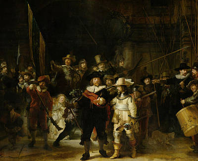 Nightwatch Painting - The Night Watch by J Beek