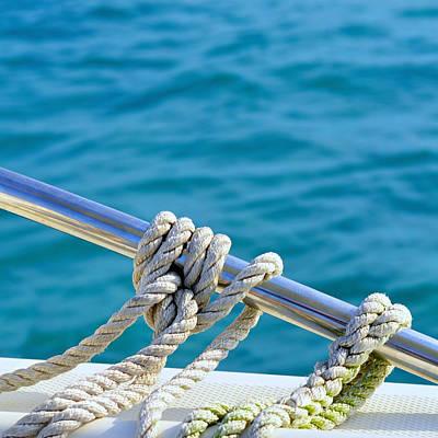 At Sea Photograph - The Ropes by Laura Fasulo