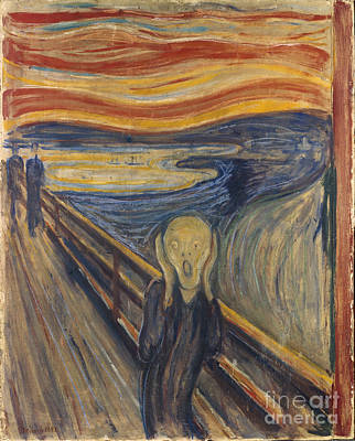 Depression Painting - The Scream by Mountain Dreams