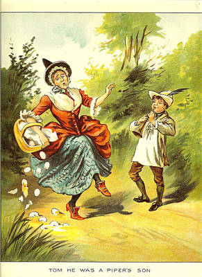 Nursery Rhyme Photograph - Uk Illustrations Book Plate by The Advertising Archives