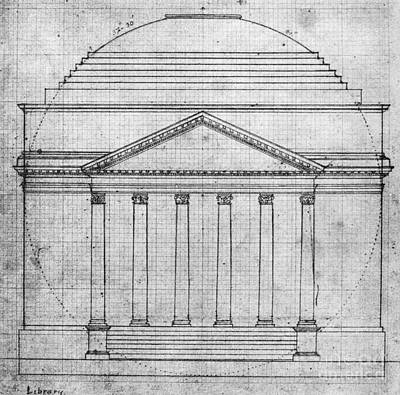 Harvard Drawing - University Of Virginia by Granger