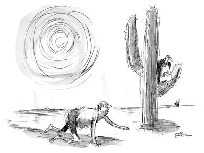 Vulture Drawing - Untitled by Charles Addams