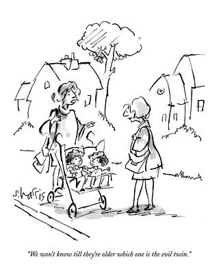Stroller Drawing - Untitled by Sidney Harris