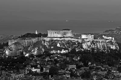Acropolis Photograph - View Of Acropolis From Lycabettus Hill by George Atsametakis