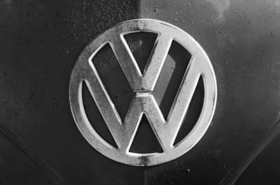 Bus Photograph - Volkswagen Vw Bus Front Emblem by Jill Reger