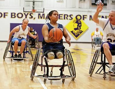 Wheelchair Basketball Print by Jim West