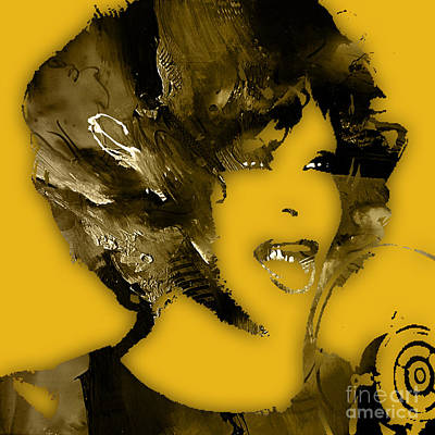 Soul Mixed Media - Whitney Houston Collection by Marvin Blaine