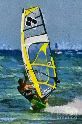 Surfing Photograph - Windsurfing by George Atsametakis