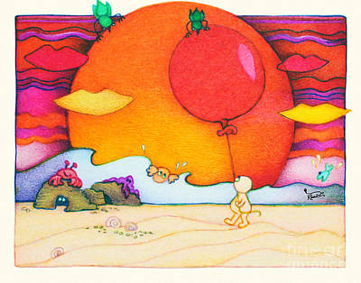 Congratulations Painting - Woobies Character Baby Art Colorful Whimsical Design By Romi Neilson by Megan Duncanson