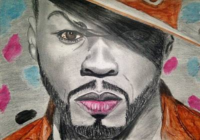 Rapper Painting - 50 Cent by Abiodun Bewaji
