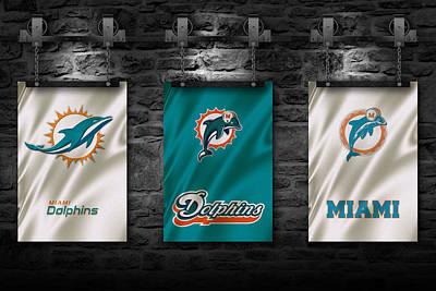 Flags Photograph - Miami Dolphins by Joe Hamilton