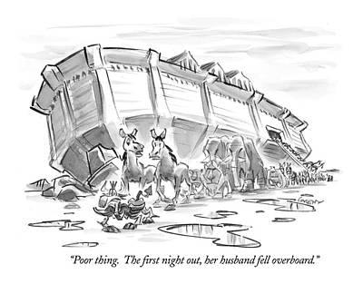 Noahs Ark Drawing - Untitled by Lee Lorenz
