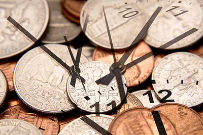 Metaphor Photograph - Time Is Money  by Les Cunliffe