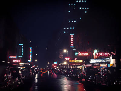 Storefront Photograph - 52nd Street Nyc - 1948 by Mountain Dreams