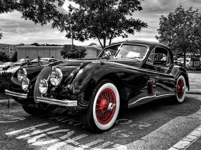 Classic Car Photograph - '53 Jag 001 by Lance Vaughn