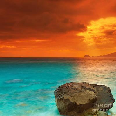 Evening Scenes Photograph - Sunrise by MotHaiBaPhoto Prints