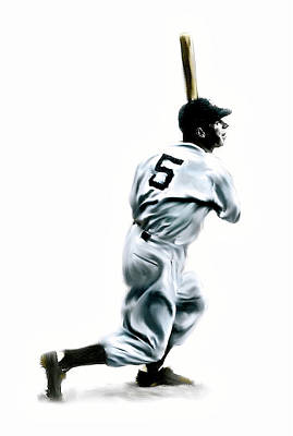 New York Yankees Drawing - 56 Joe Dimaggio by Iconic Images Art Gallery David Pucciarelli