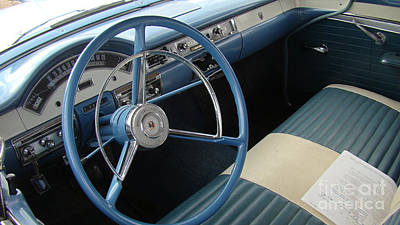 57 Ford Interior Print by Beverly Guilliams