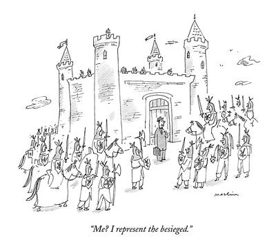 Knights Castle Drawing - Untitled by Michael Maslin