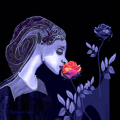 Inuu Digital Art - 590 - Flavour Of The Rose by Irmgard Schoendorf Welch