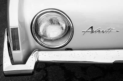 1963 Photograph - 1963 Studebaker Avanti Emblem by Jill Reger