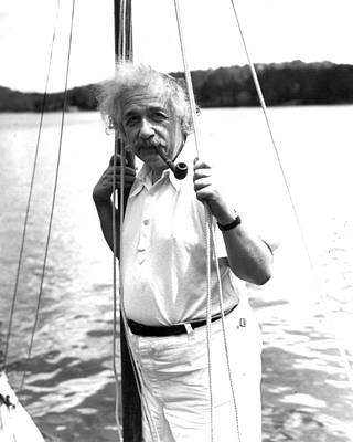 Atom Photograph - Albert Einstein by Retro Images Archive
