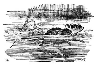 Tear Drawing - Alice In Wonderland, 1865 by Granger