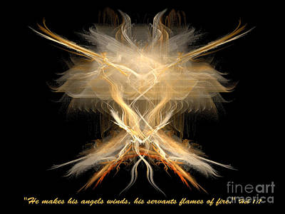 Digital Art - Angel Fire by R Thomas Brass