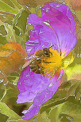 Bee Digital Art - Answer The Dance by Zygmund Zee