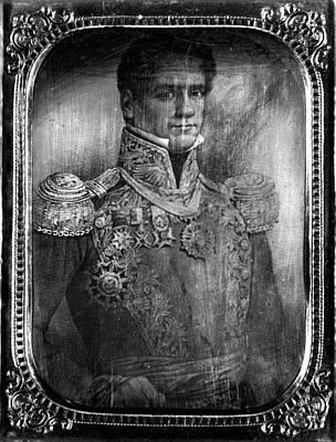 Antonio Lopez De Santa Anna Print by Granger