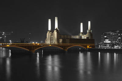 Battersea Power Station London Print by David French