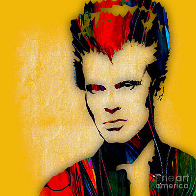 Rock And Roll Mixed Media - Billy Idol Collection by Marvin Blaine